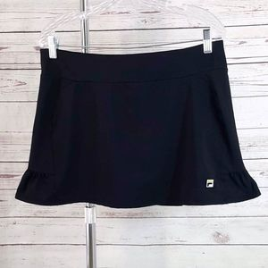 Fila black ruffle trim tennis skirt shorts skort